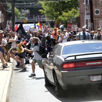 Car Crashing Into Crowd At Charlottesville