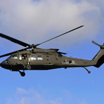 Image: A U.S. Army Black Hawk helicopter