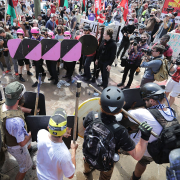 """Image: Violent Clashes Erupt at """"Unite The Right"""" Rally In Charlottesville"""