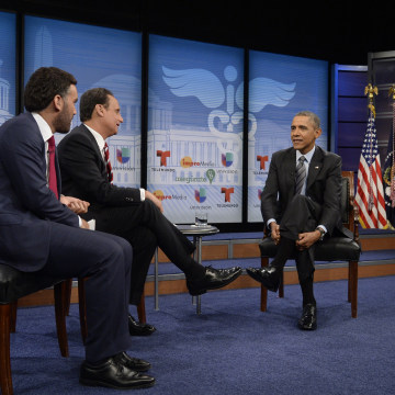 Image: US President Barack Obama Participates In Town Hall Event On Affordable Health Insurance