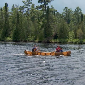 Image: Canoeing, a favorite activity in Grand Marais