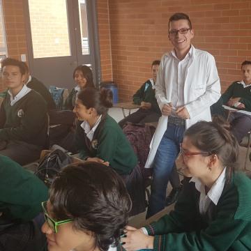 Image: Teacher Luis Miguel Bermúdez