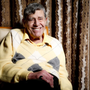 Comedian Jerry Lewis during an interview at the Four Seasons Hotel in Los Angeles, on Aug. 24, 2016.