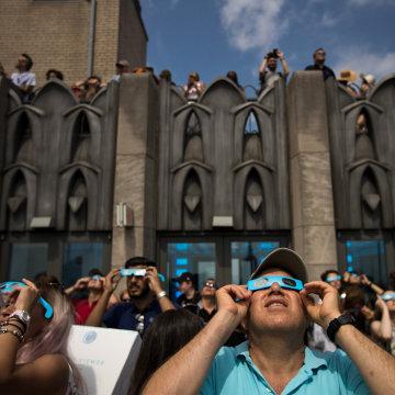 Image: Solar Eclipse Visible Across Swath Of U.S.