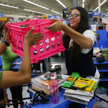 Back to School Shopping At Wal-Mart