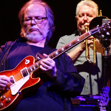 Image: Walter Becker performs with Steely Dan in concert at the Beacon Theatre, New York, Oct. 28, 2016.