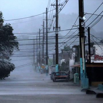 Image: A street is flooded as Hurricane Irma passes through Fajardo, Puerto Rico