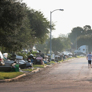 Image: Houston Area Begins Slow Recovery From Catastrophic Harvey Storm Damage