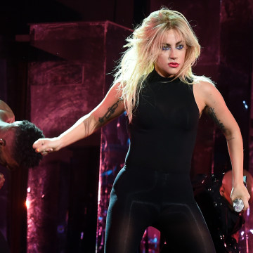 Image: Singer Lady Gaga performs on the Coachella Stage during day 2 of the Coachella Valley Music And Arts Festival