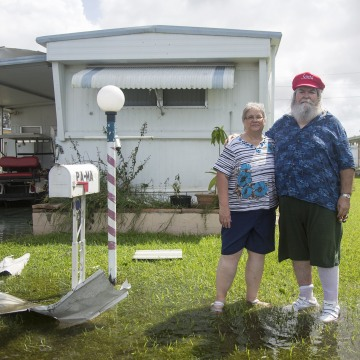 Image: Marcia and Paul Ashby in Holiday Manor in Naples, Florida after Hurricane Irma hit the area.