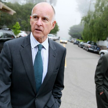 Image: Democratic Candidate For Governor Jerry Brown Casts His Vote In Primary