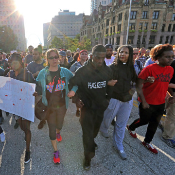 Image: Silent march in St. Louis