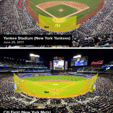 Image: Safety netting at Yankee Stadium and Citi Field