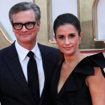"Image: Colin Firth arrives with his wife Livia Giuggioli for the world premiere of ""Kingsman: The Golden Circle"" in London, Britain on Sept. 18, 2017."