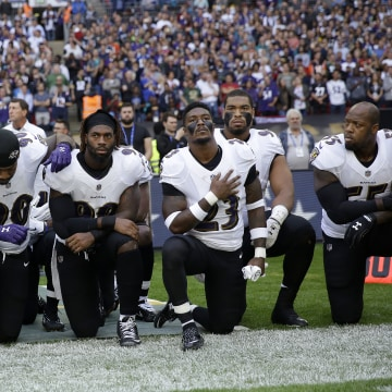 IMAGE: NFL protest in London