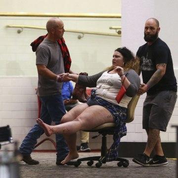 Image: Injured woman in Las Vegas