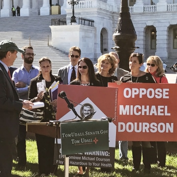 Image: U.S. Senators Tom Udall (D-N.M.) held a press conference to oppose confirming Michael Dourson to lead the Environmental Protection Agency