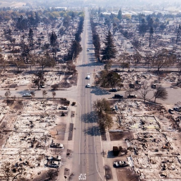 Image: Coffey Park neighborhood of Santa Rosa