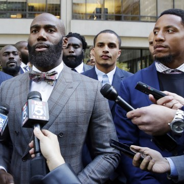 Image: Anquan Boldin, Malcolm Jenkins and Eric Reid