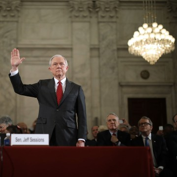 Image: Sen. Jeff Sessions Testifies At His Senate Confirmation Hearing To Become Country's Attorney General