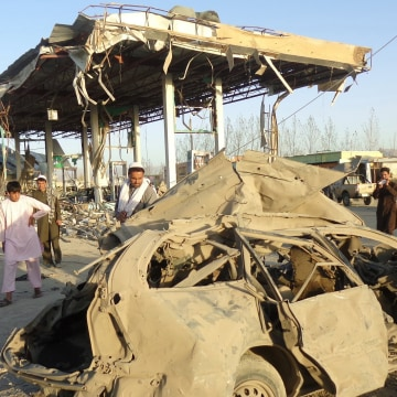 Image: Suicide Bomb Attack Kills 20 People at a Police Post in Paktia