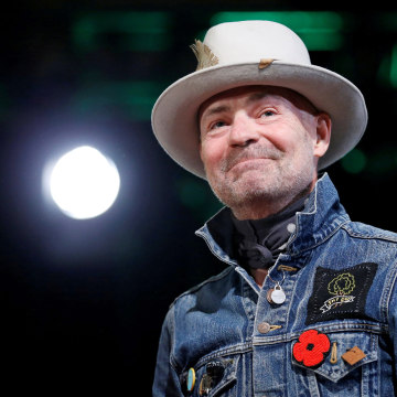 Image: FILE PHOTO: Tragically Hip singer Gord Downie takes part in an honouring ceremony at the Assembly of First Nations Special Chiefs Assembly in Gatineau