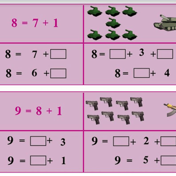 Image: A diagram shows images of weapons in an ISIS schoolbook