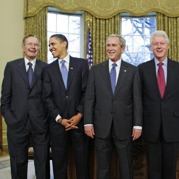 George W. Bush, Barack Obama, Bill Clinton, Jimmy Carter, George H.W. Bush