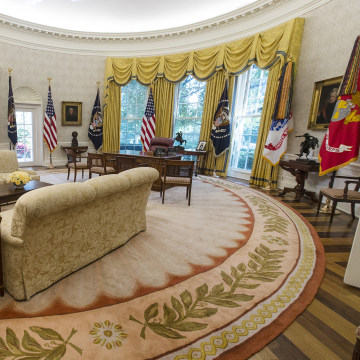 Image: The newly renovated Oval Office of the White House