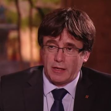 Image: Carles Puigdemont told the BBC he would declare independence from Spain within days.