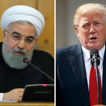 Image: Hbadan Rouhani; Donald Trump