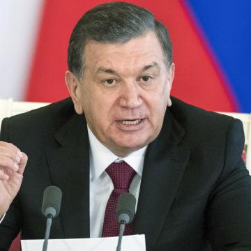 Image: Uzbek President Shavkat Mirziyoyev