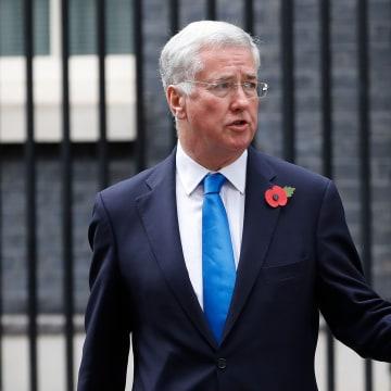 Image: Britain's Defense Secretary Michael Fallon