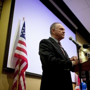 Image: Republican U.S. Senate candidate Roy Moore speaks at the Vestavia Hills Public library, Saturday, Nov. 11, 2017, in Birmingham, Alabama.