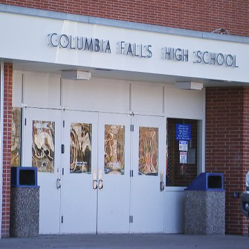 Columbia Falls High School in Columbia Falls, Montana, one of the hacked schools.