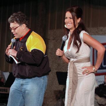 Image: Comedian Al Franken and Leeann Tweeden