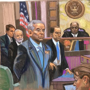 Image: Senator Robert Menendez (D-NJ) in Federal Court, on Nov. 16, 2017.