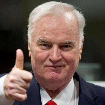 Image: Ex-Bosnian Serb wartime general Ratko Mladic