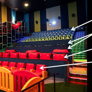 Image: Cinepolis Junior seating options at Pico Rivera and Vista locations