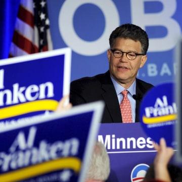 Image: Democratic senatorial candidate Al Franken