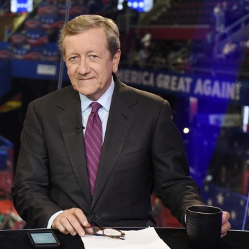 Image: Brian Ross at the 2016 Republican National Convention in Cleveland, Ohio.