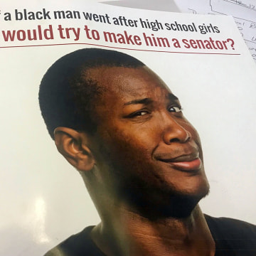 Image: A mailer from the Doug Jones campaign targeting black voters.