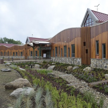 Image: The newly-finished Sandy Hook School