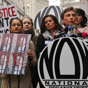 Image: NOW Protests Manhattan DA's Decision Not To Prosecute Harvey Weinstein