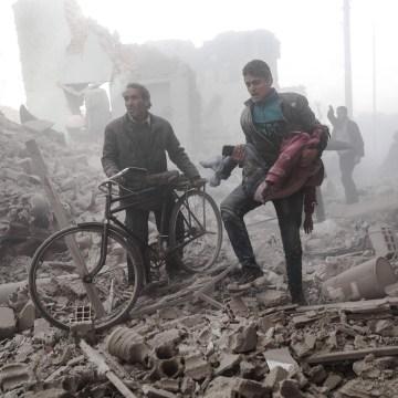 Image: Syrian airstrike