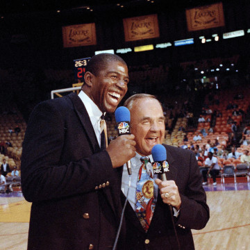 Earvin Johnson, Magic Johnson, Dick Enberg