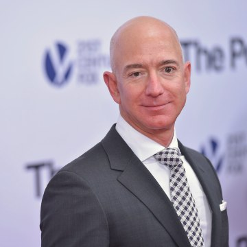 "Image: Jeff Bezos arrives for the premiere of ""The Post"""