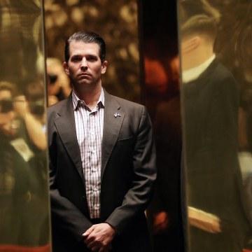 Image: Donald Trump Jr. arrives at Trump Tower