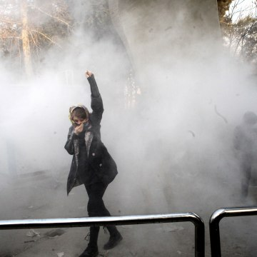 Image: Anti-government protest in Iran