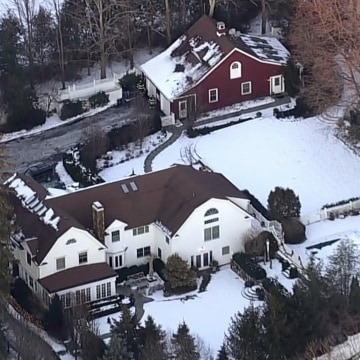 Image: Reports of a fire at the Clinton's home in Chappaqua, New York on Jan. 3, 2017.